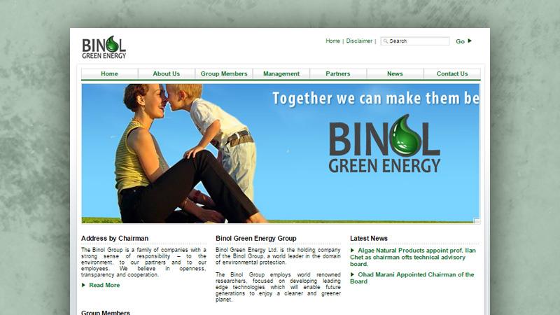 בניית אתר - בינול דלקים ירוקים